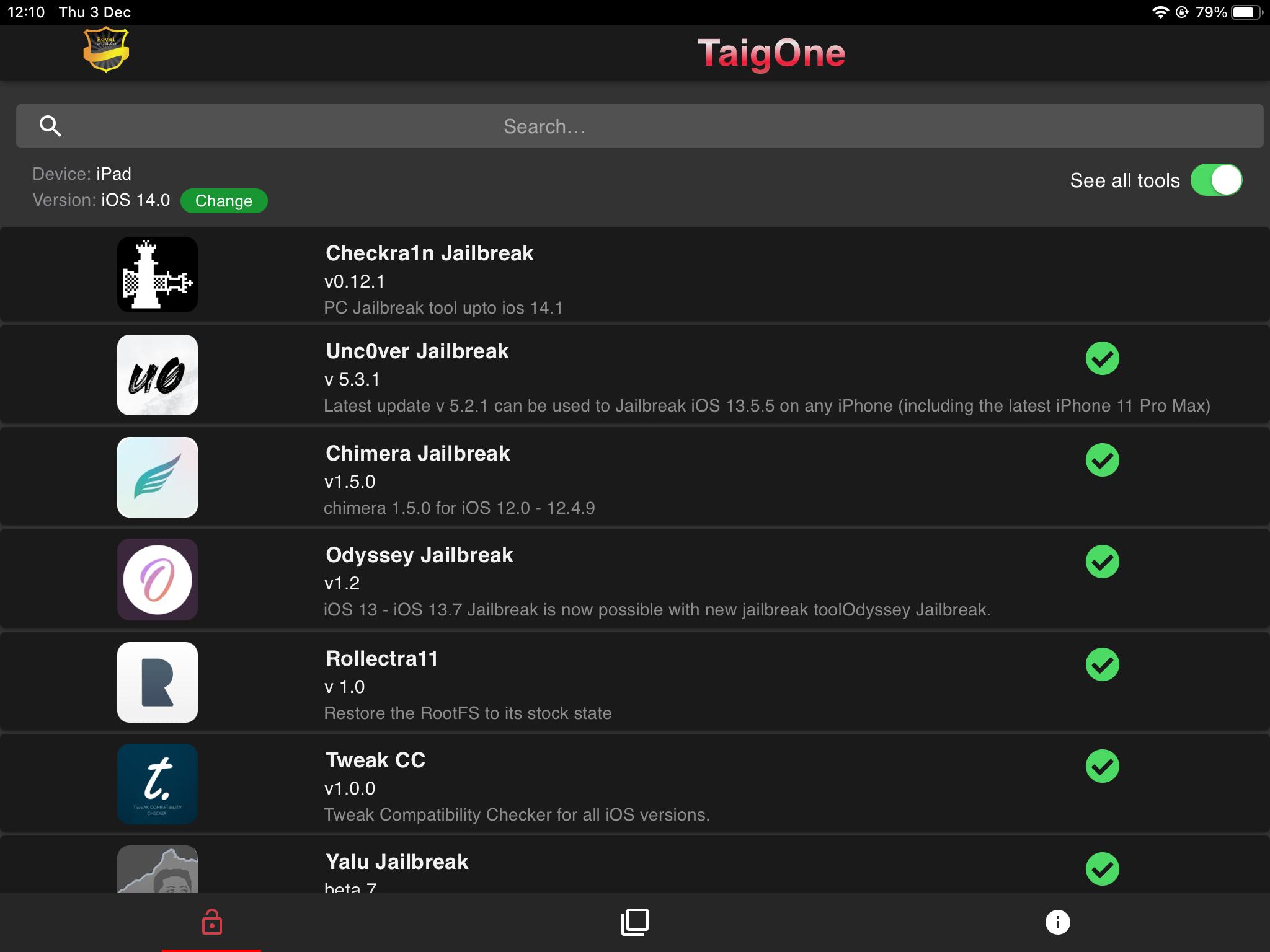 iOS Gods, Tutu app, zJailbreak, Tweak CC, iWish and many other jailbreak tweaks