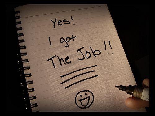 job receiving note cv and resumes