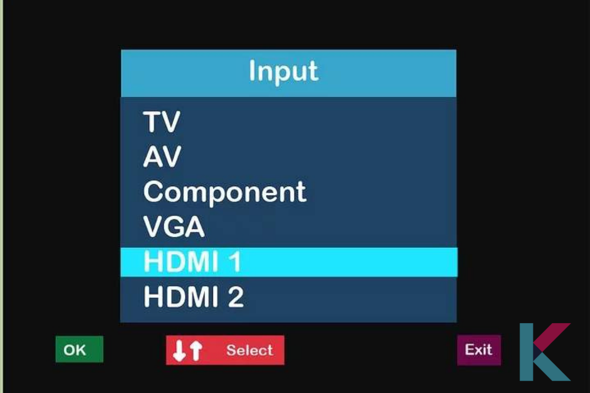 """Change the input on the TV to HDMI. And then, press the """"Play/Pause"""" button"""