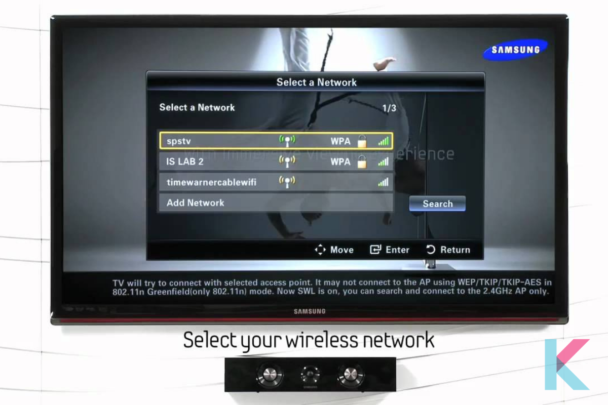 Choose a wireless network to connect to and enter the password.