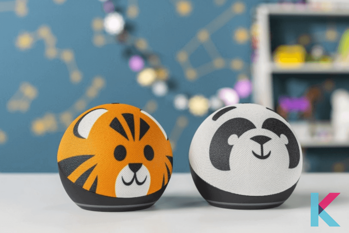There is also a smart speaker for kids. The Kids Edition Echo Dot is by far the cutest smart speaker I've ever seen with its tiger or panda designs and softball size.