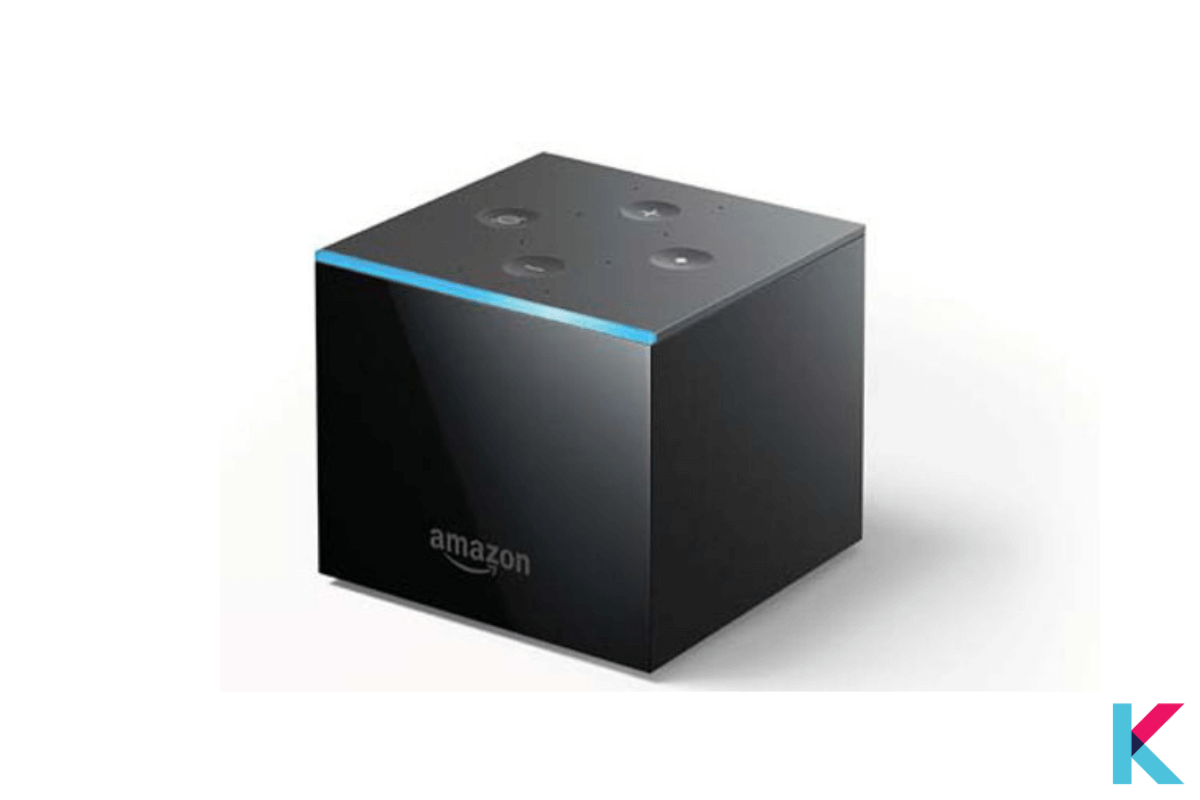 The Amazon Fire TV cube is a smart TV streaming box with an Alexa . It is a small black box with shiny and matt black plastic and about the 86mm-wide and 77mm-tall cube.