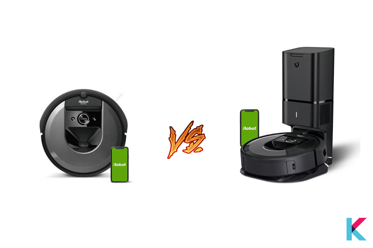 the differences between Roomba i7 and i7+