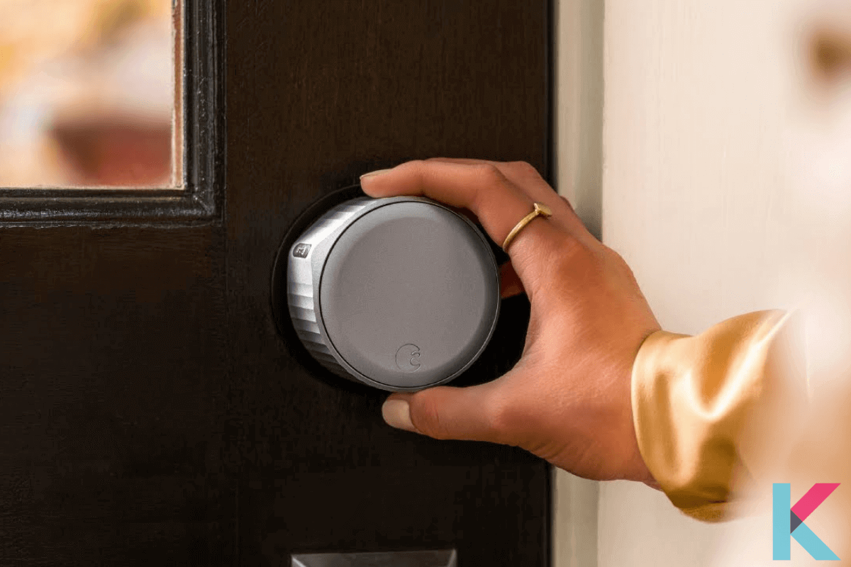 The August Wi-Fi Smart Lock is 45% smaller than the original one. It also comes with built-in Wi-Fi, eliminating the need to install the August Connect Bridge to connect your lock to your home network.