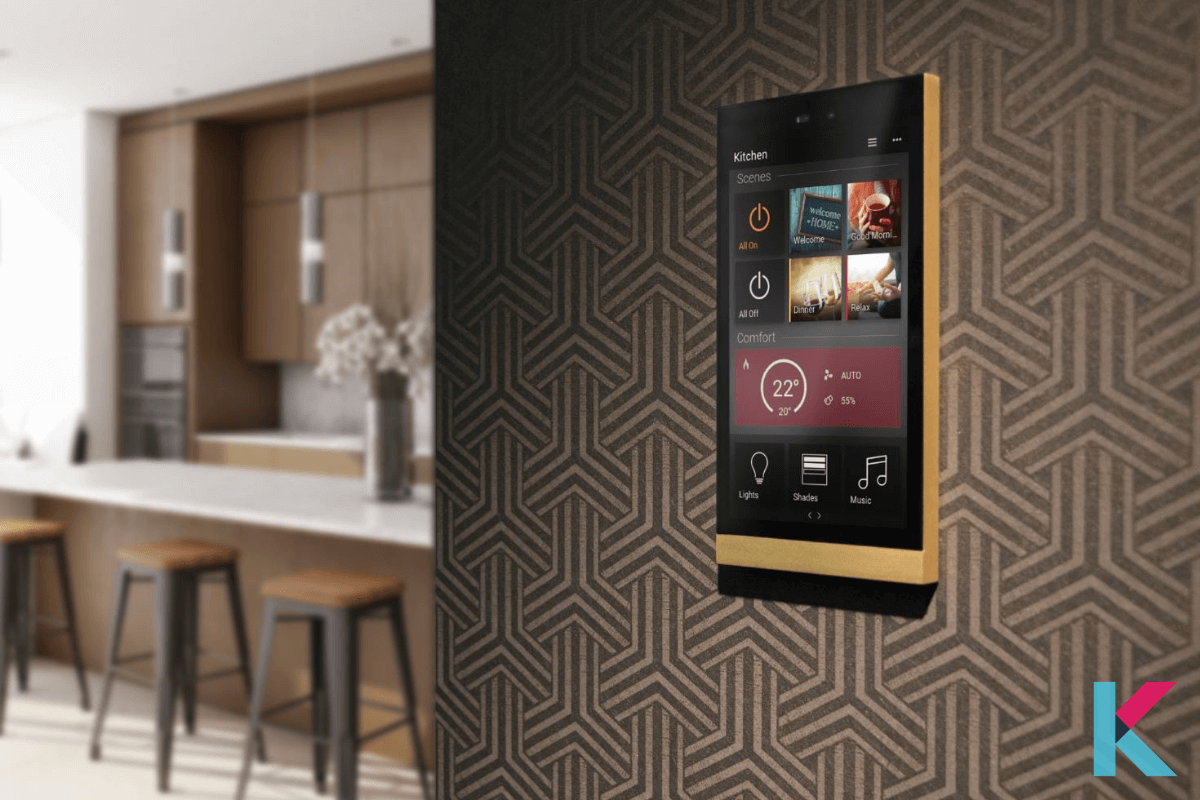 It is an elegant touch-sensitive panel with a slim design and premium finish. It can be used to control climate, lights, music, and many around the house.