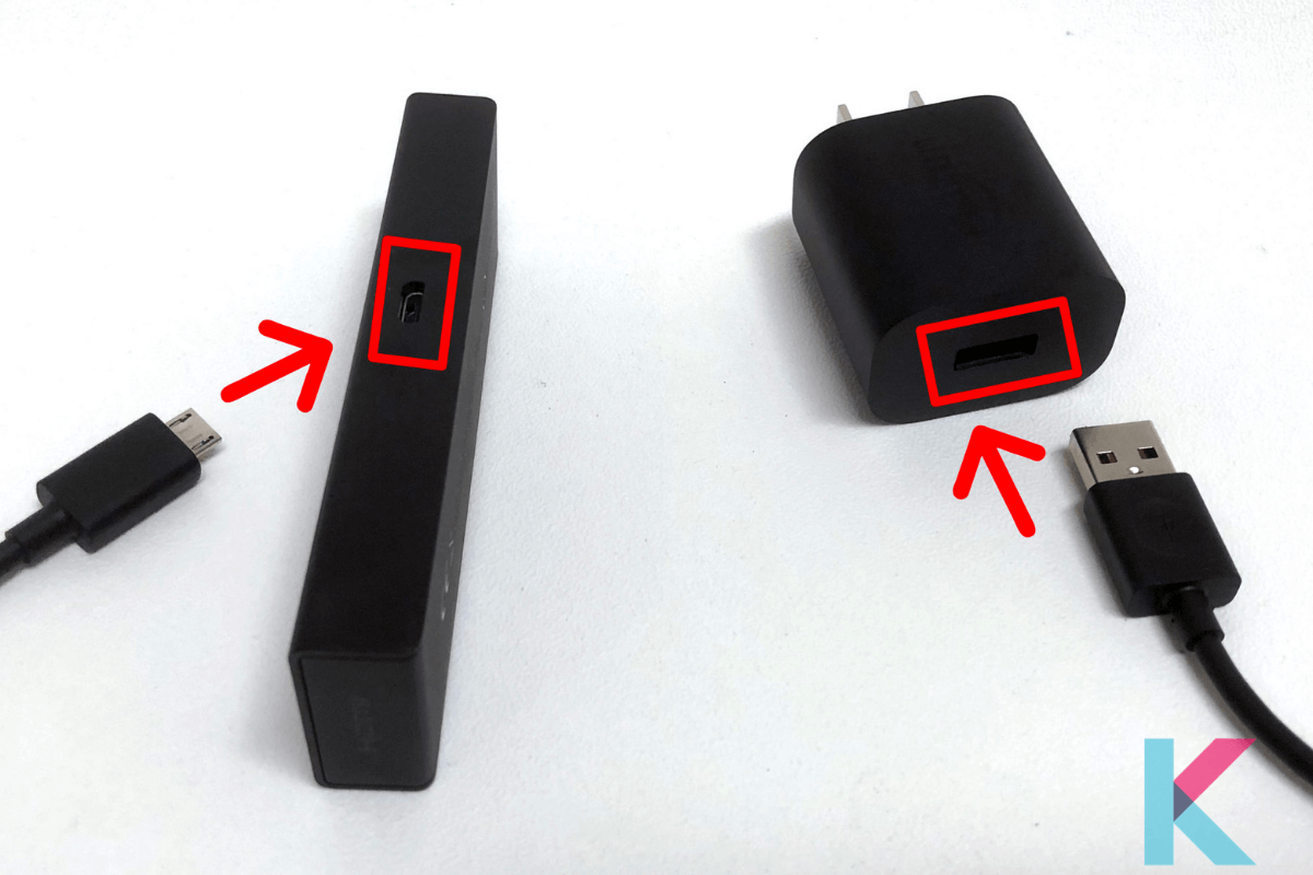 Connect the Fire Stick to the HDMI port on your TV