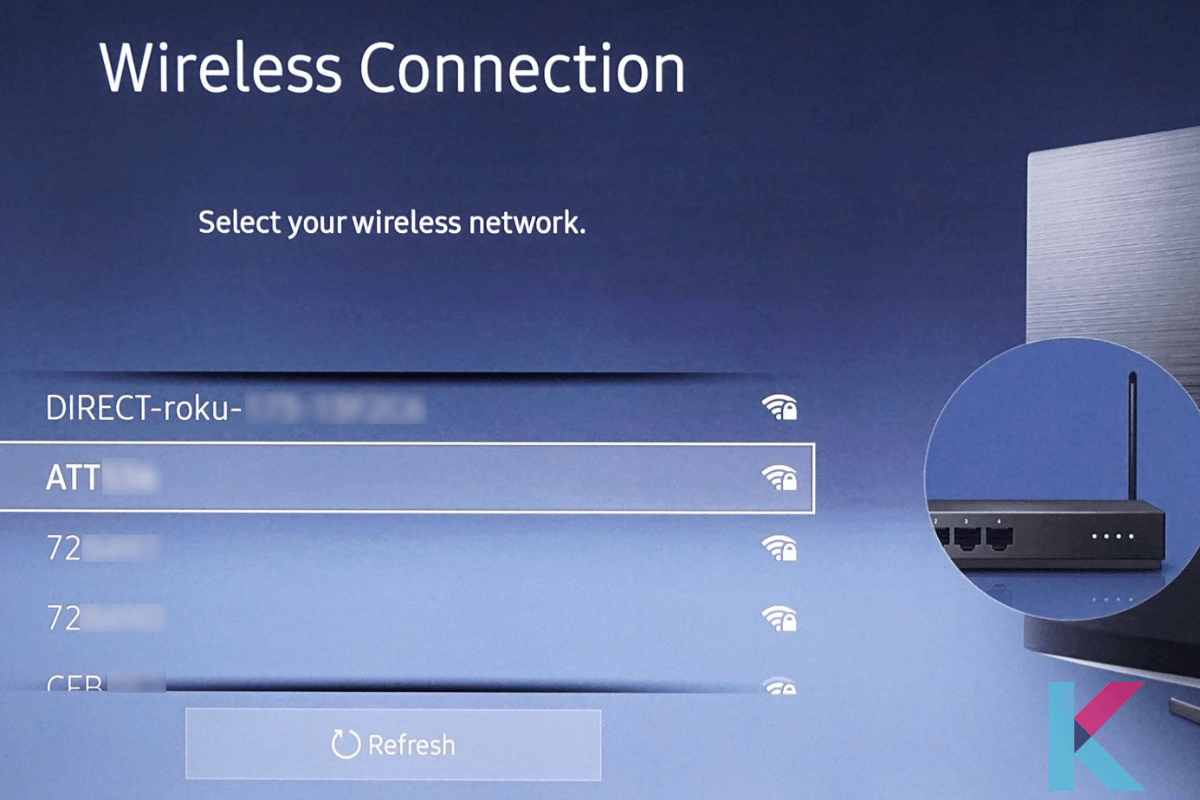 Choose a wireless network to connect