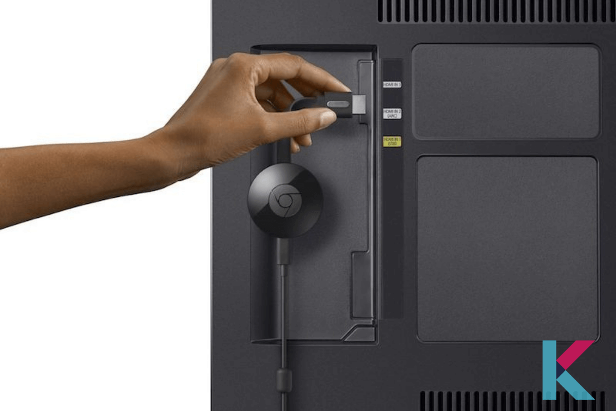 Connect the Chromecast to the HDMI port on your television