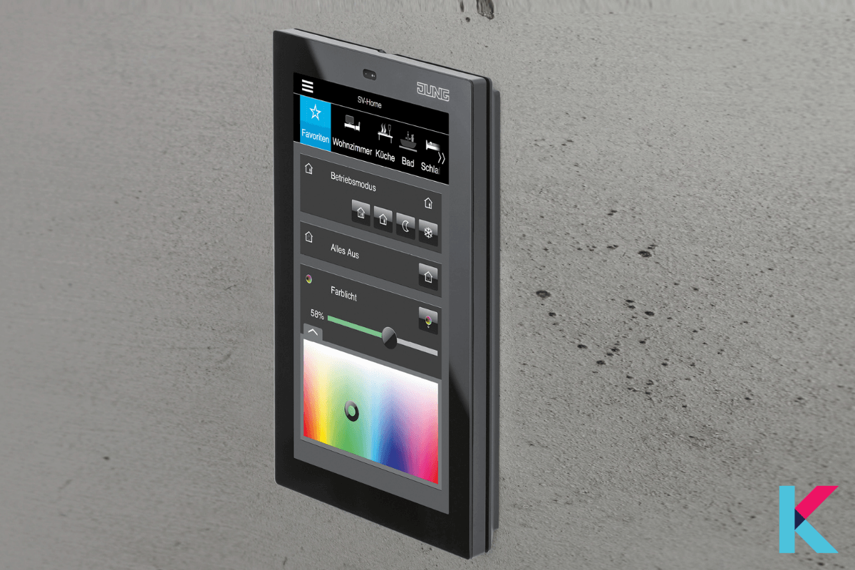 JUNG Smart controller 5 is the latest extension to the smart control series with a slim, compact design.