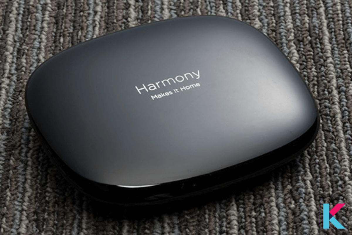 Logitech Harmony Home Hub is a sleek device with smartphone-based control.