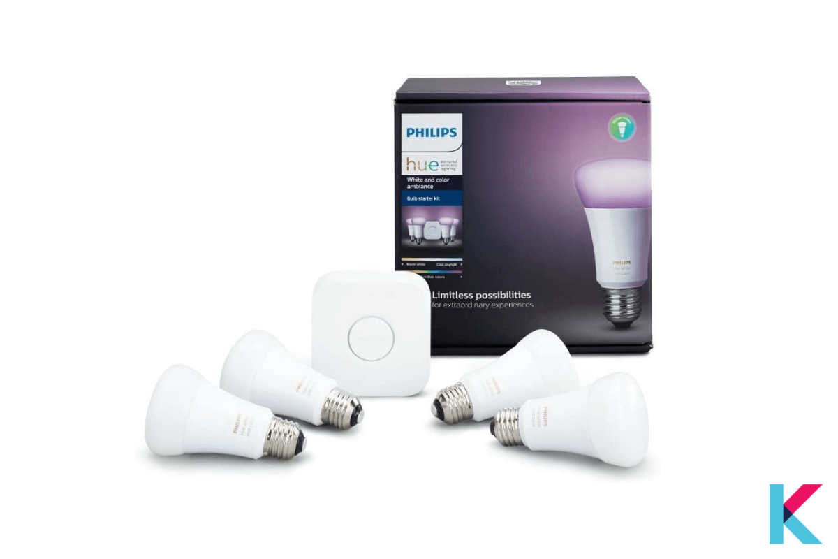 Philips Hue White and Color Ambiance Starter Kit is the best smart bulb starter kit.