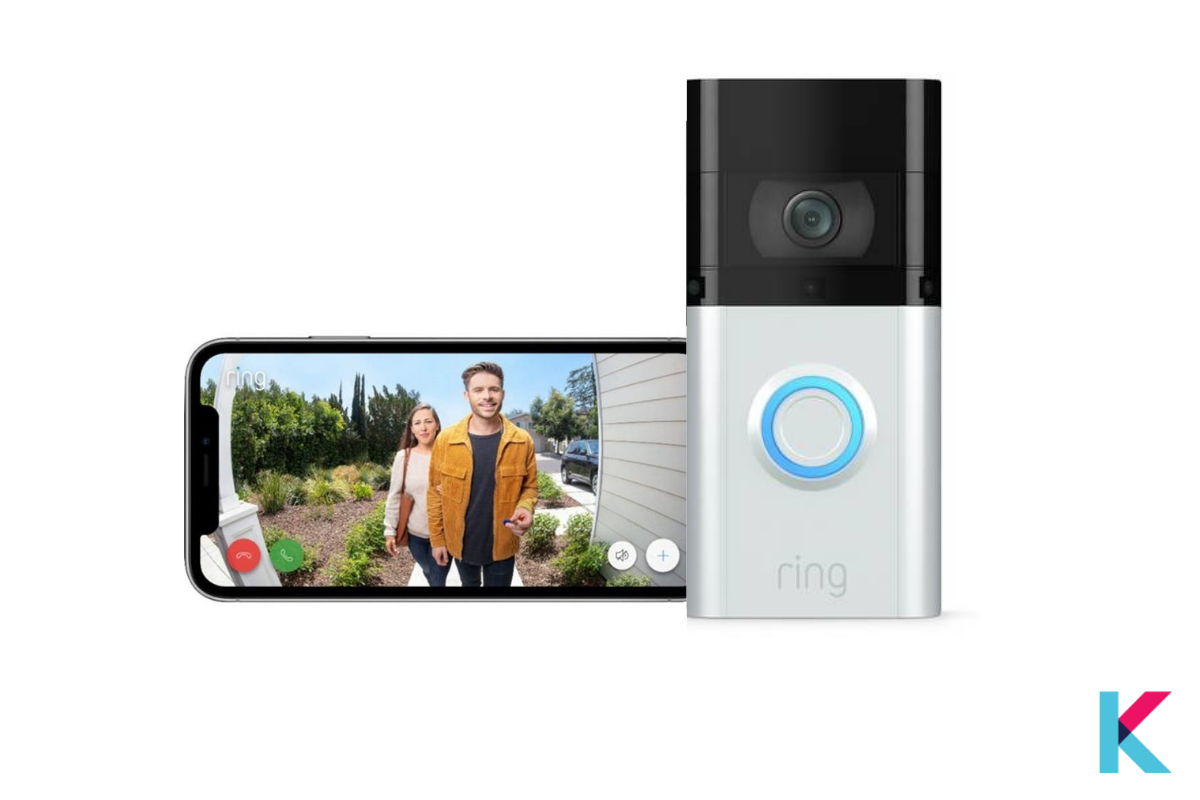 The Ring Video Doorbell 3 Plus is the 3rd version of the Ring smart doorbell with improved motion detection capabilities. It lets you speak and see to anyone on your doorstep.