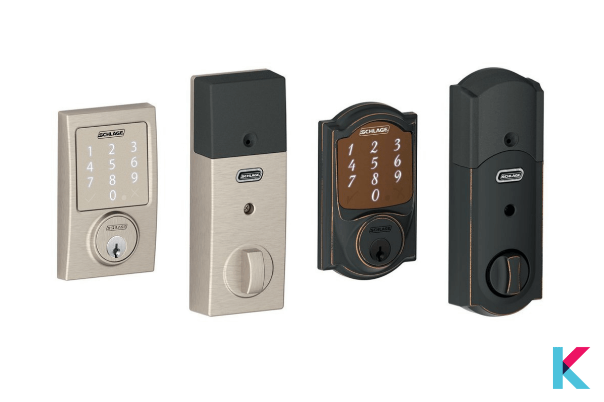 The Schlage Sense is a famous smart lock with a wide range of style and finishes options. It is also Homekit support.