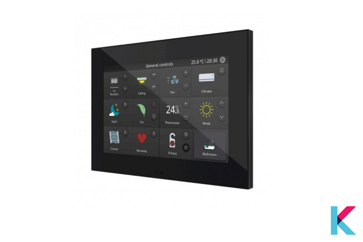 """ZENNIO Z70 is a color capacitive touch panel with a 7"""" display. It is a built-in luminosity and proximity sensor."""