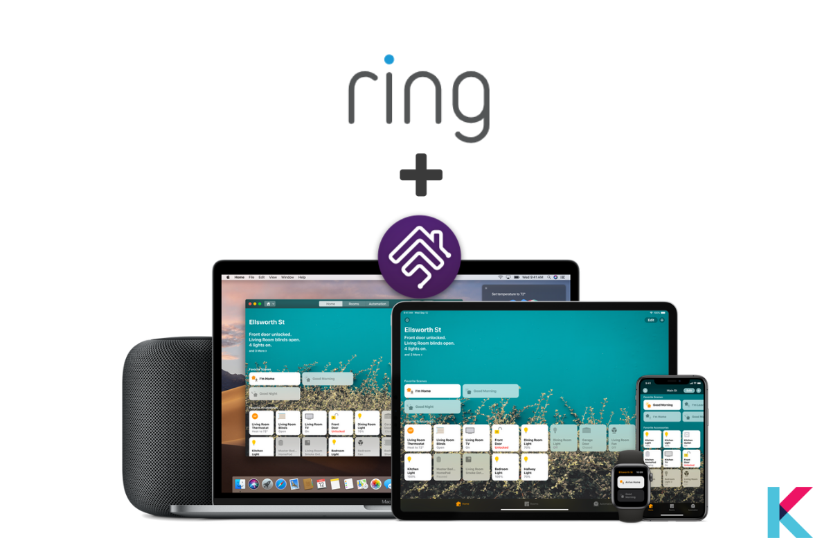 Homebridge provides the ability to use Ring devices with your Apple HomeKit.