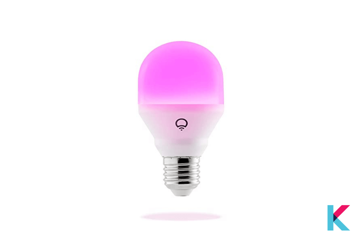 Lifx Mini LED smart bulb is the best color-changing Smart Light with egg-sized. It is significantly small and WiFi connected.
