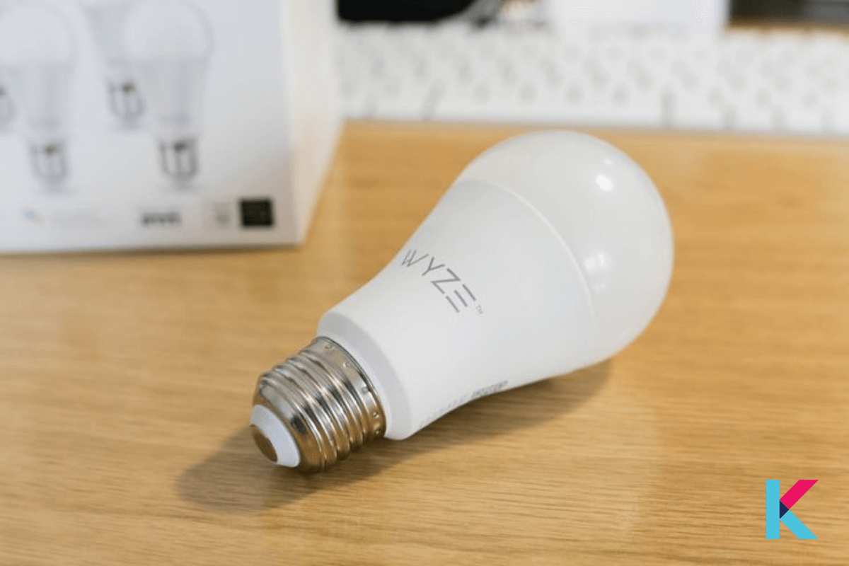 Wyze Bulb is a white color LED Bulb by Wyze Labs and one of the cheapest smart bulbs. It has 9.5-watts and produces up to 800 lumens.