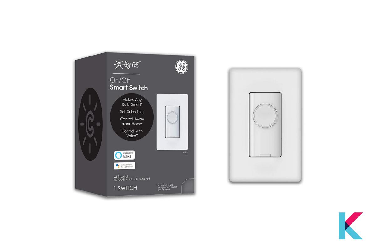 GE C-Smart Motion Sensor Light Switch Dimmer is the best dimmer switch with Wi-Fi, and motion sensors.
