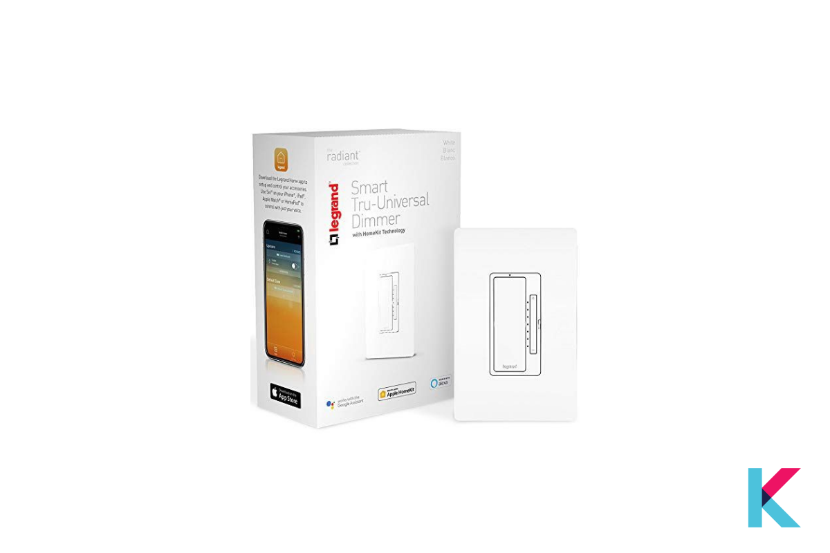 LeGrand Tru-Universal Smart Dimmer Switch is packed with fantastic features that connect directly to the Wi-Fi network.