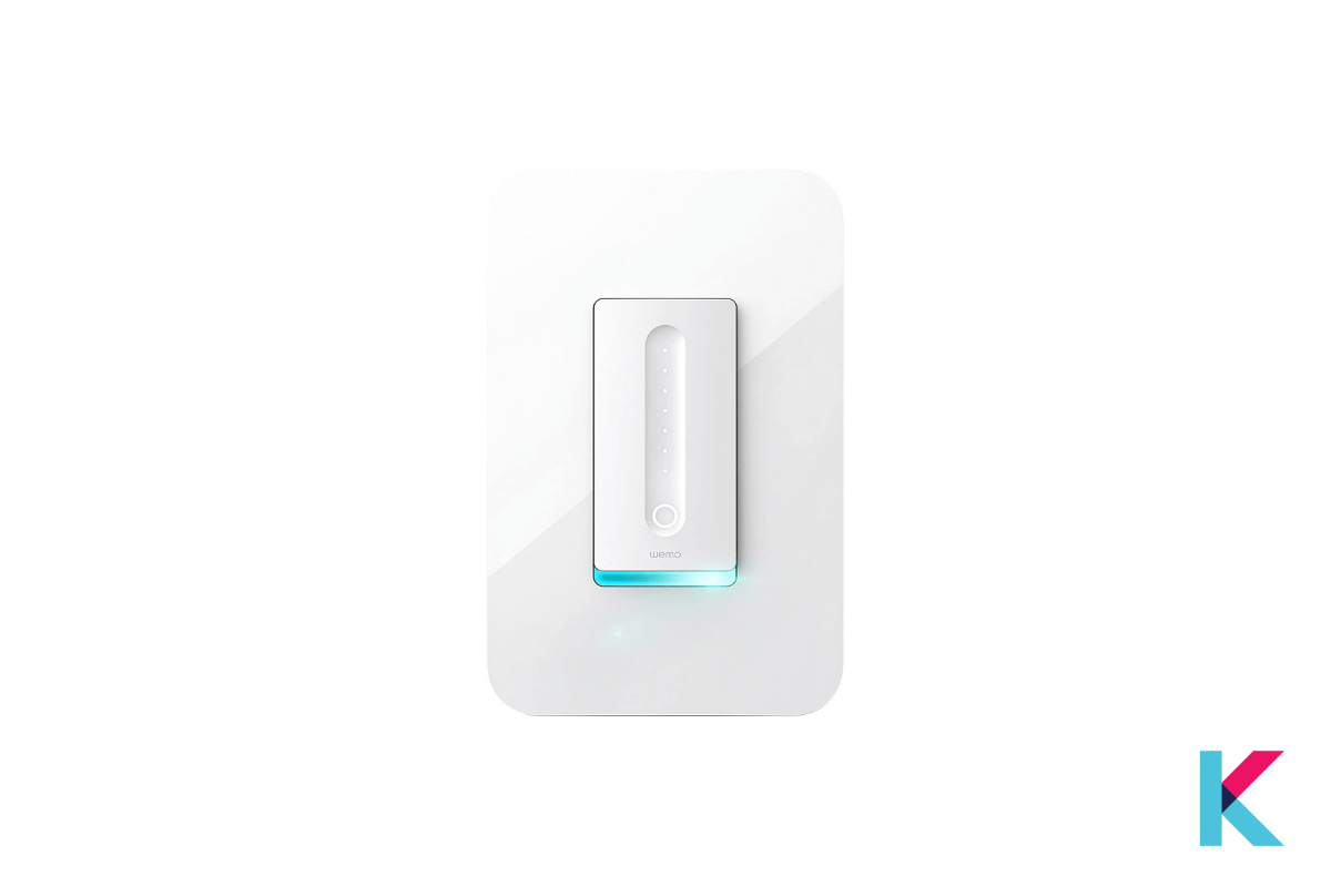 WeMo Wi-Fi Light Switch Dimmer is an affordable smart switch dimmer. It is best for Google Assistant as well as works with Alexa and Apple HomeKit.