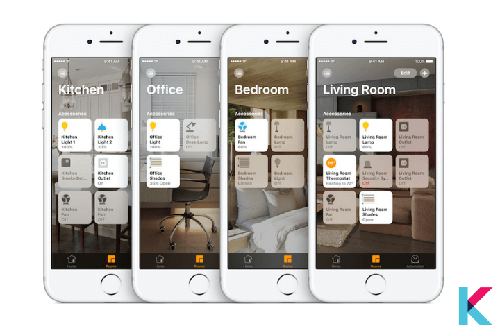 If you want to control your smart home devices very easily and securely, you can use the Apple Home App on your iOS device.