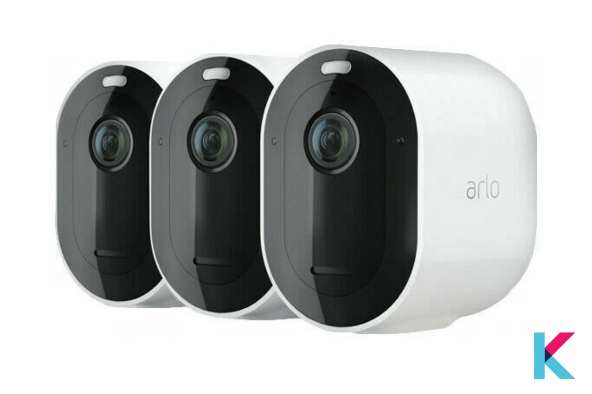 The Arlo Pro 3 is a wireless indoor and outdoor security camera with features like color night vision, faces or license plates in full color, an ultra-wide field of view, and smart motion detection.