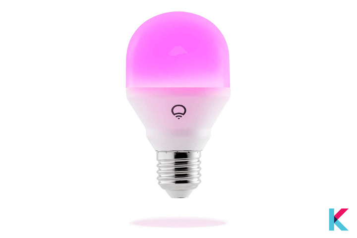 Lifx Mini Smart Bulb is among the best Google Home Devices, best Alexa compatible devices, and best Apple HomeKit compatible smart light bulbs.