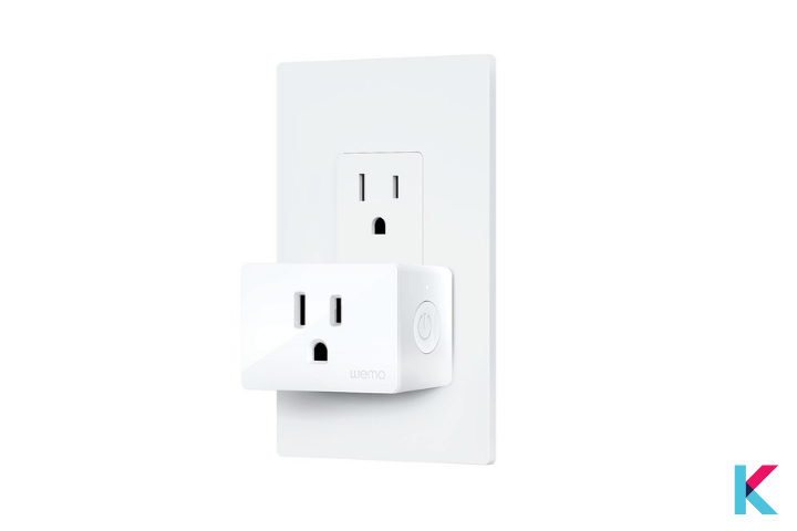 Wemo WiFi smart plug is the best choice for you. It has a physical switch, so you can click the physical switch on the Wemo.