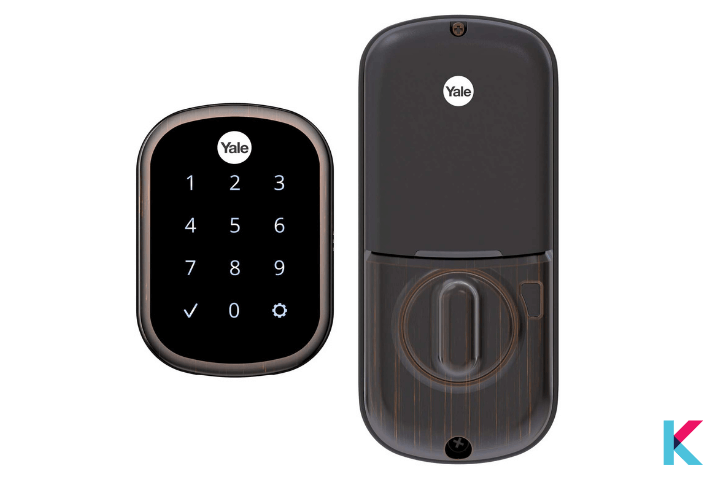 The Yale Assure SL smart lock is Apple HomeKit Enabled smart lock with a small and clean design.