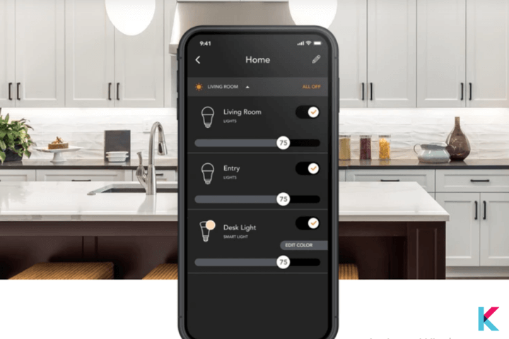 Lighting Control from Brilliant App