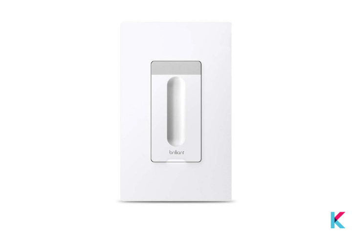 Brilliant Smart Dimmer Switch depends on the presence of at least one Brilliant Control panel in your home.