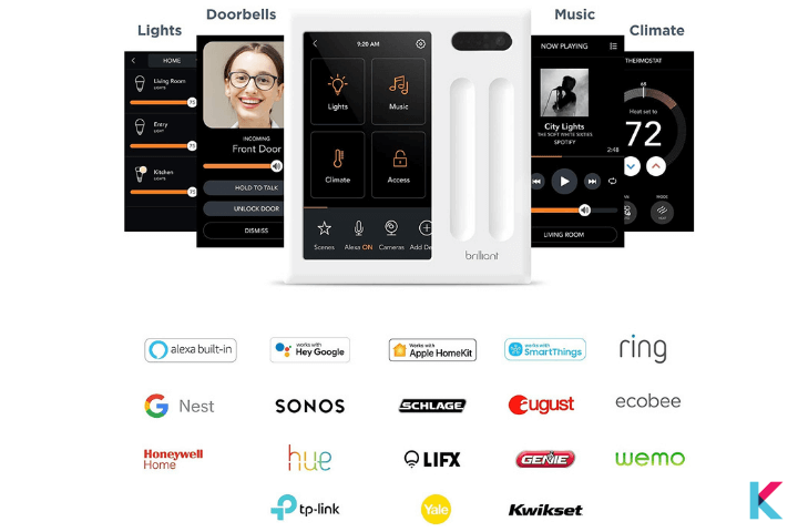 If you are interested in an All-in-one Smart Home System, this Brilliant Smart home system comes with a Display, Touch, Voice, Motion, and App.