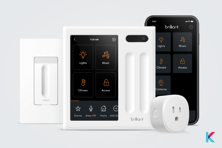 The Brilliant Smart Home System is an in-wall lighting and control system.